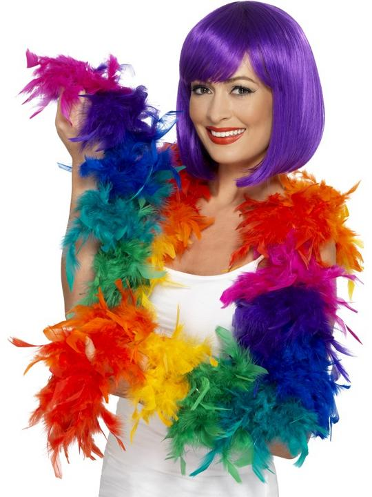 Rainbow Feather Boa Thumbnail 1