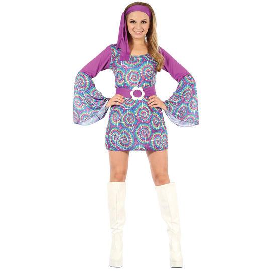 Groovy Psychedellic Hippy Lady Dress Thumbnail 1