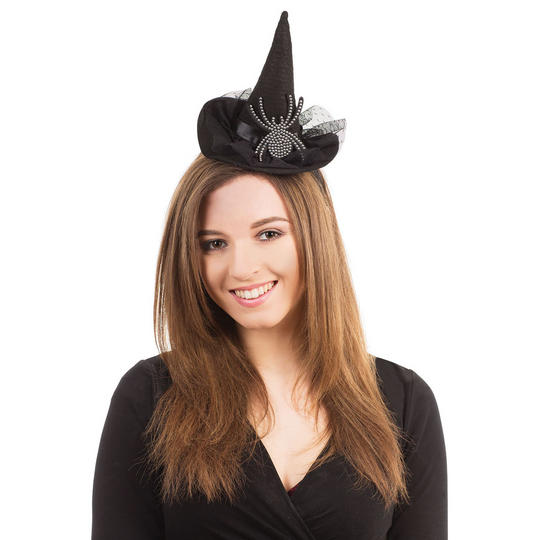 Witch Hat With Diamante Spider Thumbnail 1