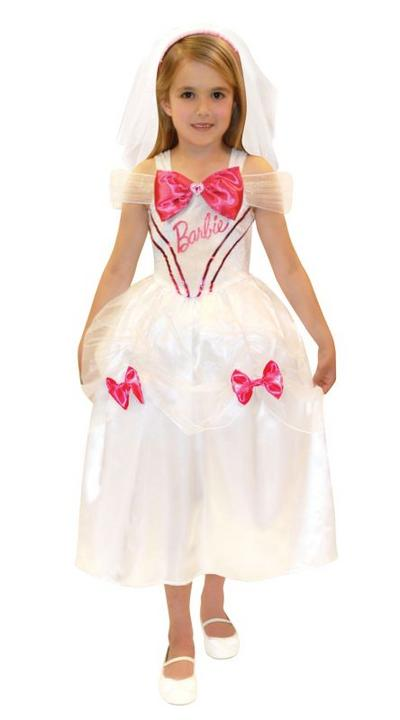 Barbie Bride Fancy Dress Costume Age 4-6 Years Thumbnail 1