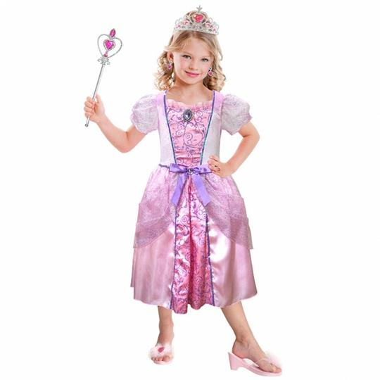 Girls Pale Pink Princess Costume Set fancy Dress Costume  Thumbnail 1