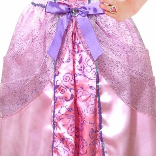 Girls Pale Pink Princess Costume Set fancy Dress Costume  Thumbnail 4