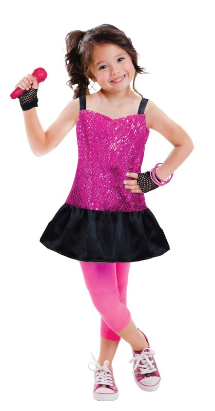 Girls Rock Star Fancy Dress Costume
