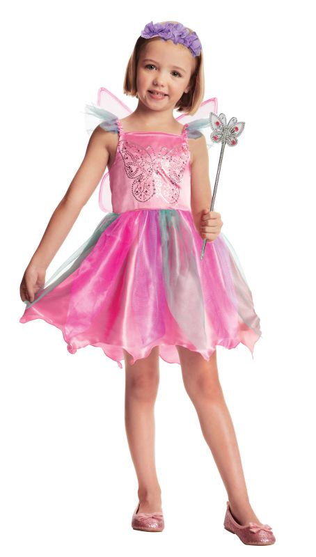 Girls Fairy Fancy Dress Costume