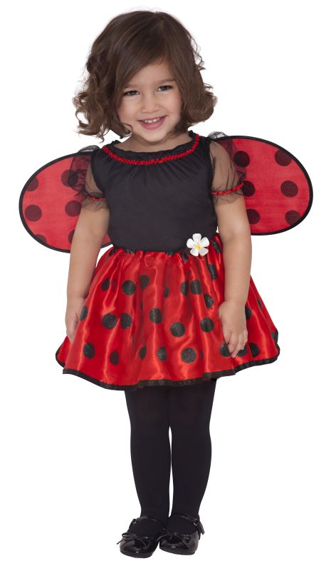 Girls Little Ladybug  Fancy Dress costume