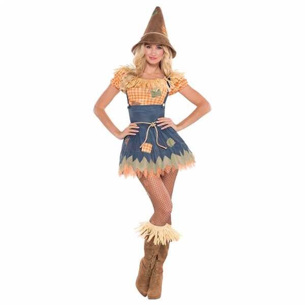 Deluxe Sexy Scarecrow Ladies Fancy Dress Costume Hen Party Outfit Size 18-20