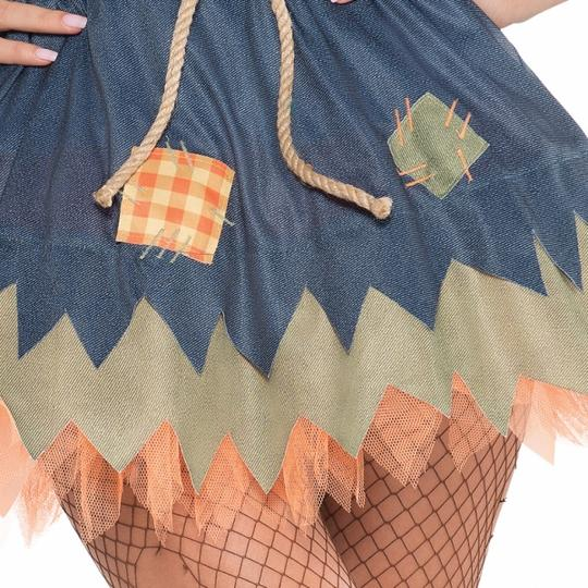 Deluxe Sexy Scarecrow Ladies Fancy Dress Costume Hen Party Outfit Size 18-20 Thumbnail 4
