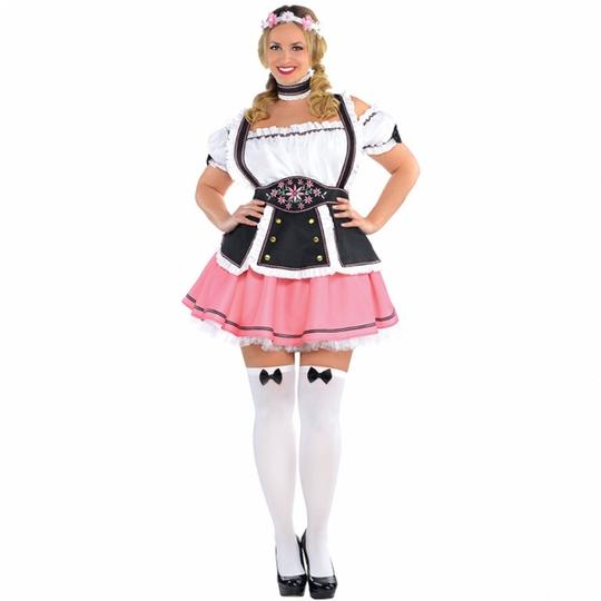 Deluxe Beer Tavern Wench Ladies Fancy Dress Costume Hen Party Outfit Plus Size Thumbnail 1
