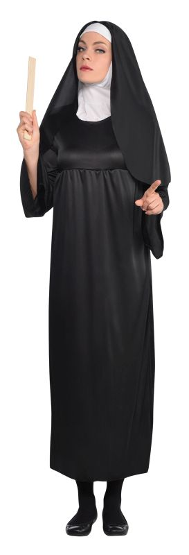 Holy Nun Costume Ladies Fancy Dress Hen Night Halloween Party Adult Outfit NEW!