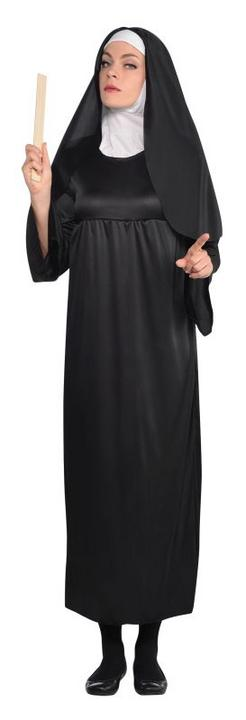 Holy Nun Costume Ladies Fancy Dress Hen Night Halloween Party Adult Outfit NEW! Thumbnail 1