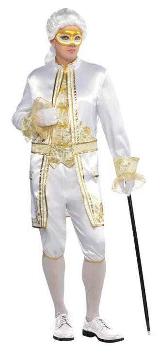 Mens Casanova Fancy Dress Costume  Thumbnail 1