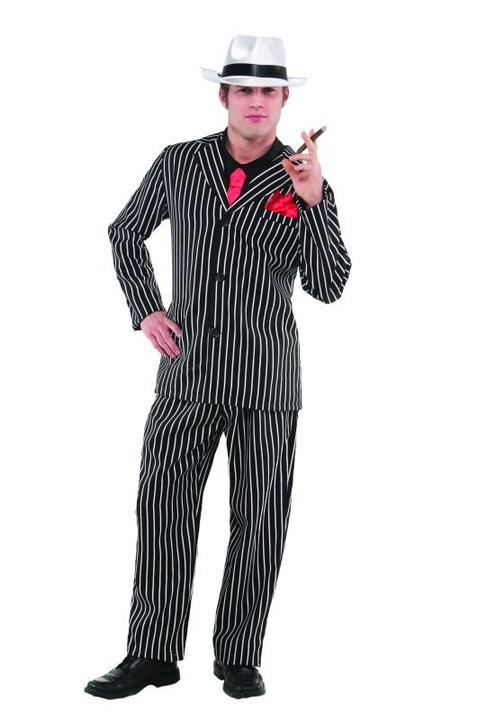 Mens Mobster Fancy Dress Costume  Thumbnail 1