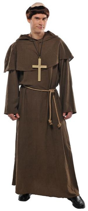 Mens Friar Fancy Dress Costume  Thumbnail 1