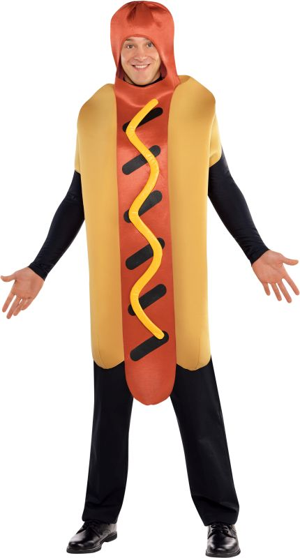 Adult Hot Diggety Dog Fancy Dress Costume