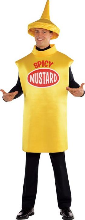 Amscan International Adults Mustard Bottle Costume Thumbnail 1