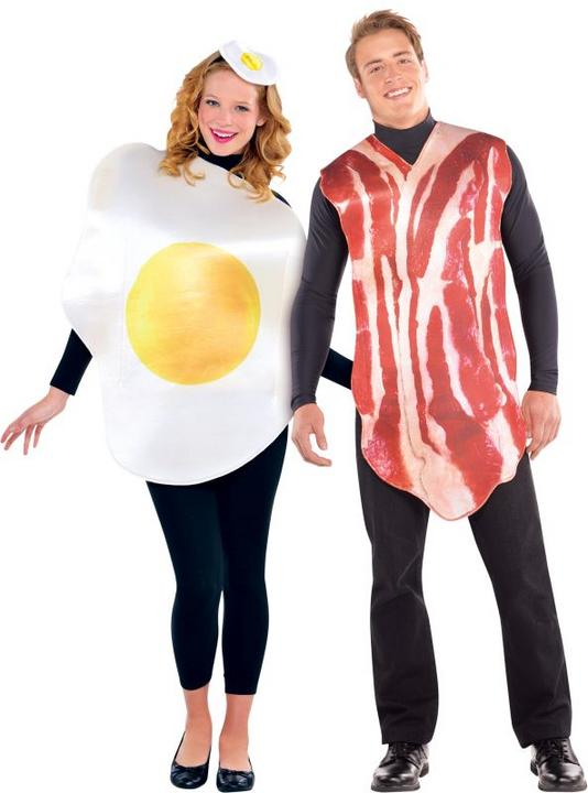 Adult Breakfast Buddies Fancy Dress Costumes  Thumbnail 1