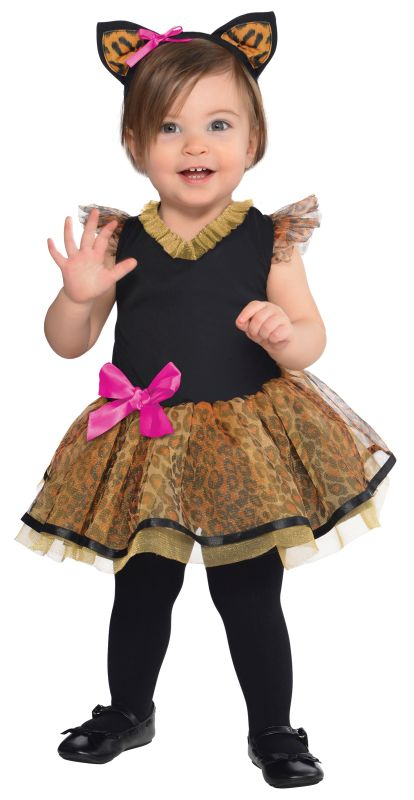 Girls Cutie Cat Fancy Dress Costume