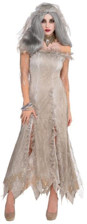 Adult Sexy Undead Zombie Ghost Bride Ladies Halloween Fancy Dress Costume Outfit Thumbnail 1