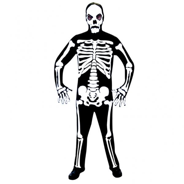 SALE Adult Skeleton Bones Mens Halloween Horror Fancy Dress Costume Party Outfit