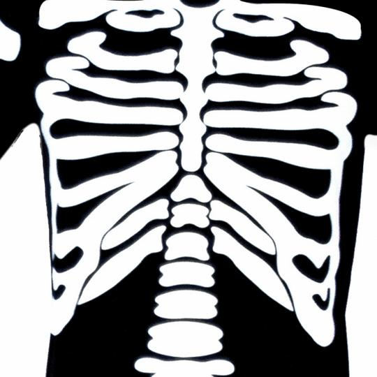 SALE Adult Skeleton Bones Mens Halloween Horror Fancy Dress Costume Party Outfit Thumbnail 3