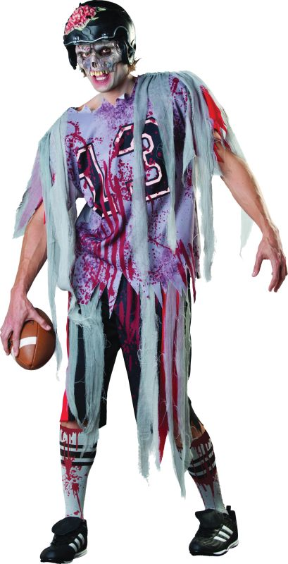 Adult Walking Dead American Football Zombie Mens Halloween Fancy Dress Costume