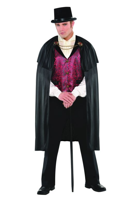 SALE! Adult Gothic Blood Count Vampire Mens Halloween Fancy Dress Costume Outfit