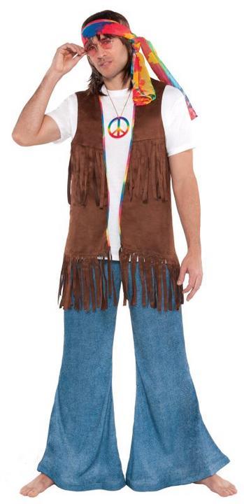 Mens Long Hippie Waistcoat  Thumbnail 1