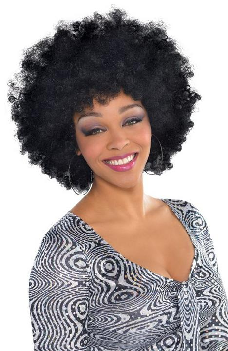 Adults Over Sized black Afro Wig  Thumbnail 1