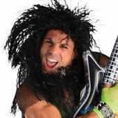 Mens Black Wig Rocker