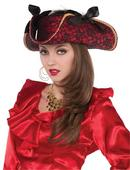 womens  Red Pirate Hat