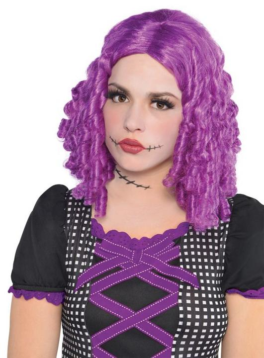 Adult Sexy Purple Rag Doll Wig Ladies Halloween Fancy Dress Costume Accessory Thumbnail 1