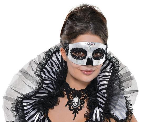 Adult Venetian Skull Mask Thumbnail 1