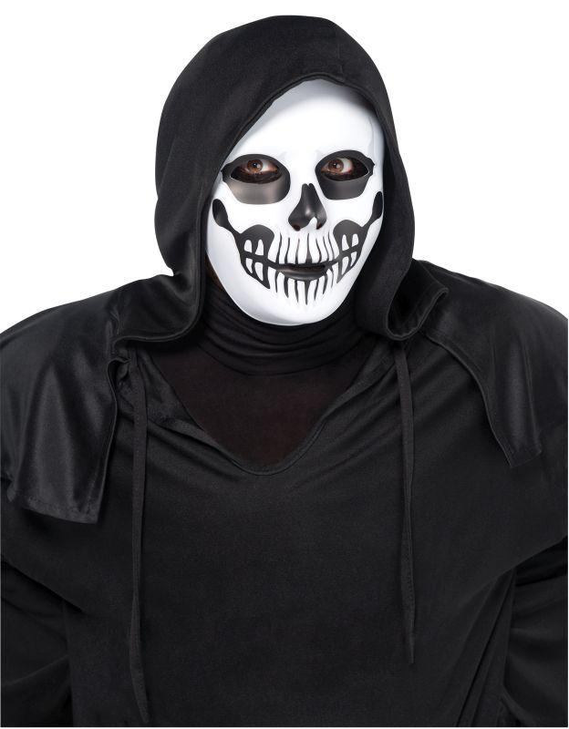 Mens Black and bone Horror Skull Mask