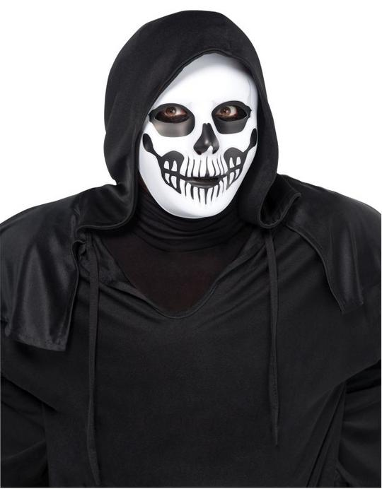 Mens Black and bone Horror Skull Mask Thumbnail 1