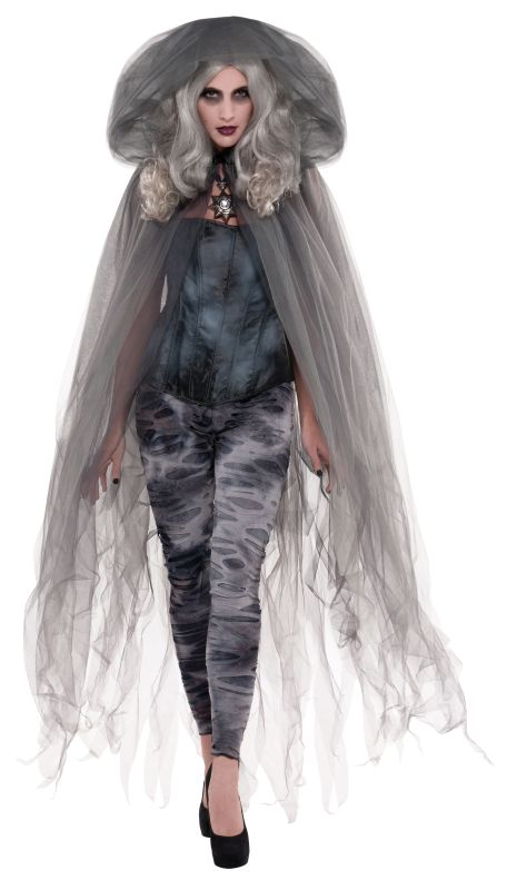 Ladies Zombie Ghost Cape
