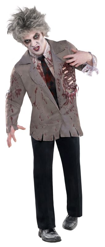 Adult Walking Dead Zombie Jacket Mens Halloween Horror Fancy Dress Accessory