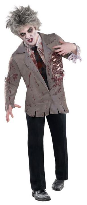 Adult Walking Dead Zombie Jacket Mens Halloween Horror Fancy Dress Accessory Thumbnail 1