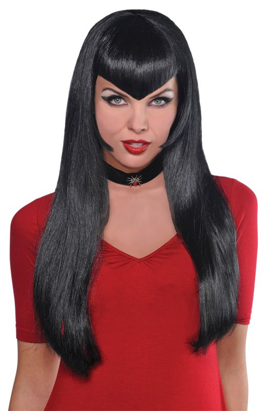 Sexy Deadly Beauty Vampiress Wig Ladies Halloween Fancy Dress Costume Accessory