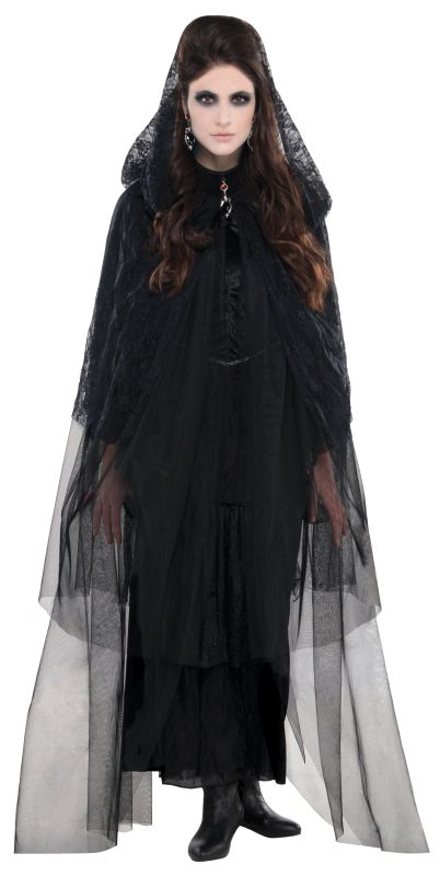 Womens  Lace Hooded Cape