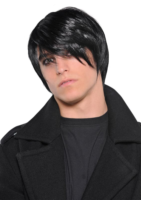 Men's  Black Pop Punk Wig