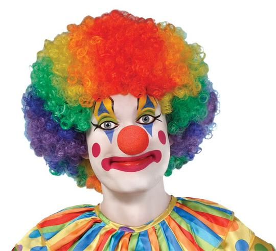 Adults Rainbow Clown afro Thumbnail 1