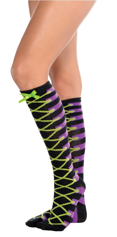 Ladies Socks Laced Up