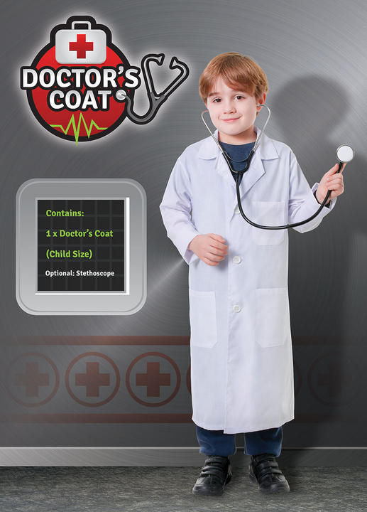 Childs Doctor Coat Costume Thumbnail 1