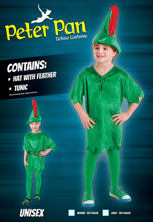 SALE! Kids Deluxe Peter Pan Boys Book Week Fancy Dress Childs Costume Outfit Thumbnail 2