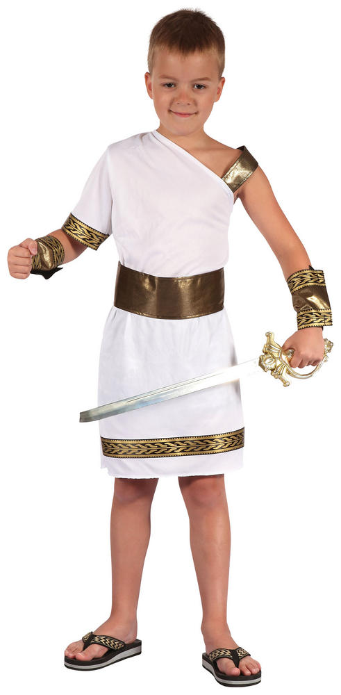 Kids Roman Warrior Gladiator Boys Book Week Fancy Dress Childs Costume Outfit