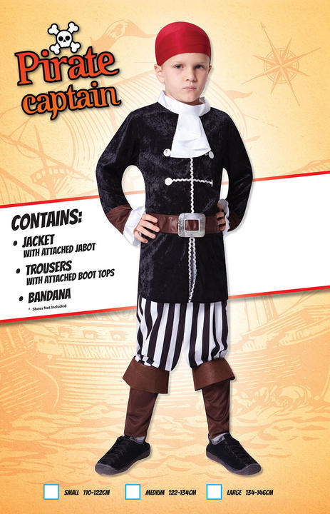 Kids Buccaneer Pirate Captain Boys Book Week Fancy Dress Childs Costume Outfit Thumbnail 2