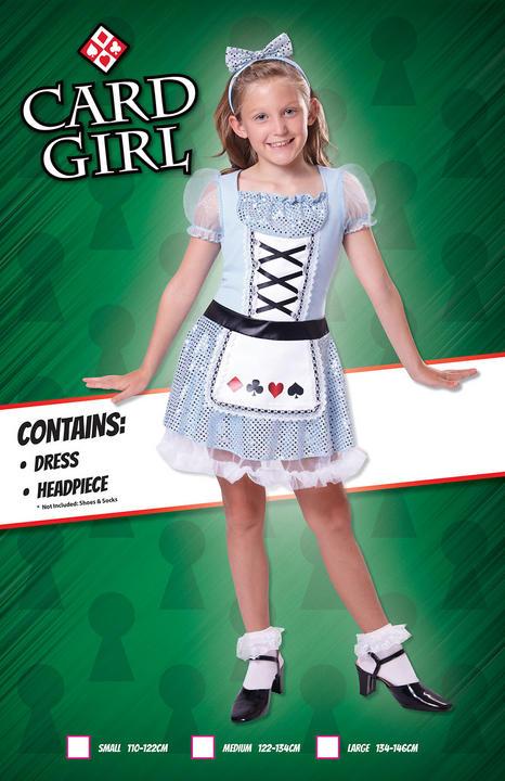 Kids Card Deck Girls Book Week Fancy Dress Childs Costume Alice In Wonderland Thumbnail 2