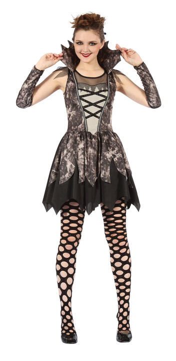 Adult Sexy Twilight Vampire Ladies Halloween Party Fancy Dress Costume Outfit Thumbnail 1