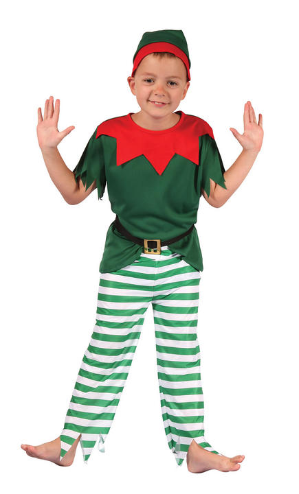 Boys Santa Helper Costume  Thumbnail 1