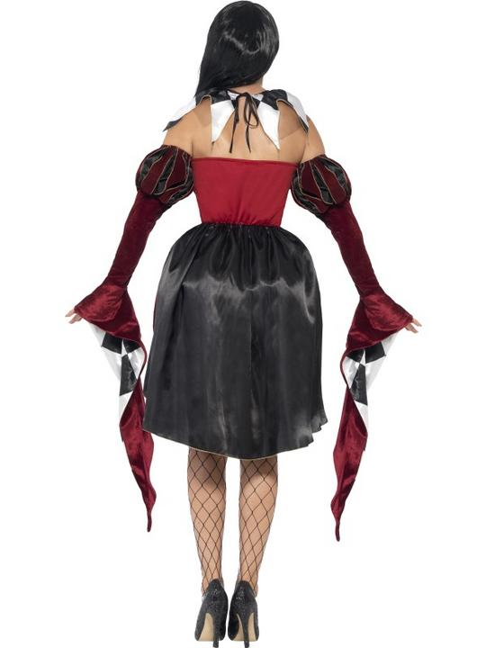 Adult Sexy Gothic Venetian Harlequin Ladies Halloween Fancy Dress Costume Outfit Thumbnail 2